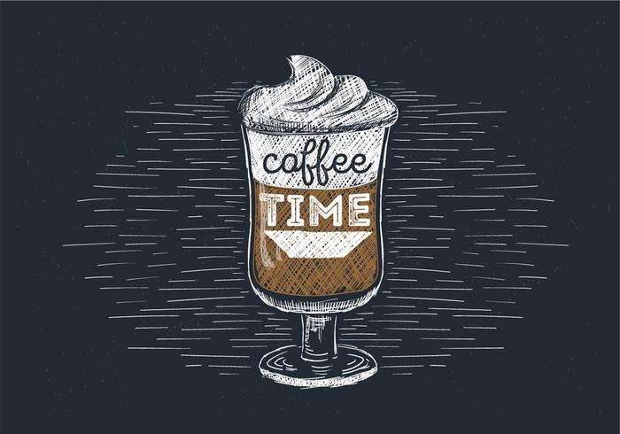 Free Hand Drawn Vector Espresso Illustration