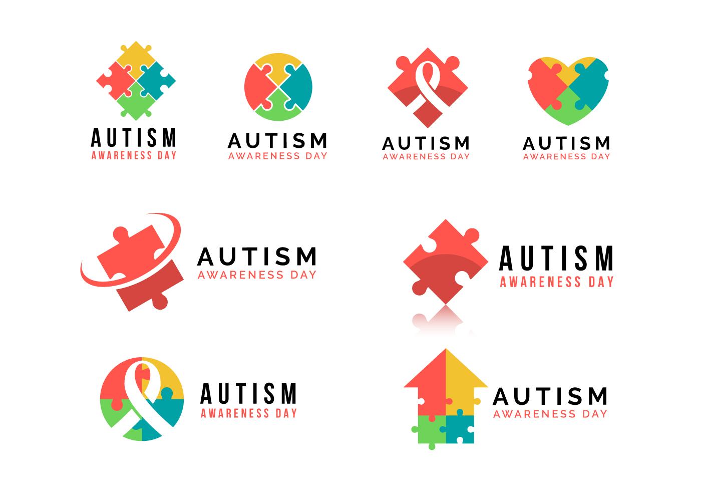 Autism Awareness Day Vector Logo Download Free Vector Art Stock