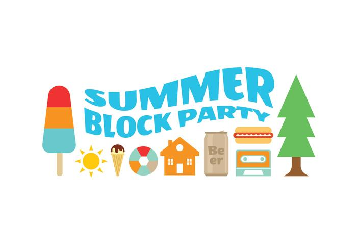 Block Party Sommer Icons