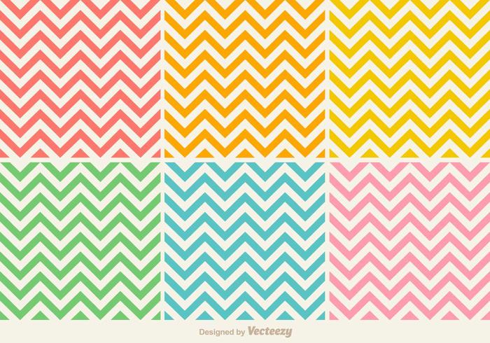 Vector Colorful Seamless Zig Zag Pattern