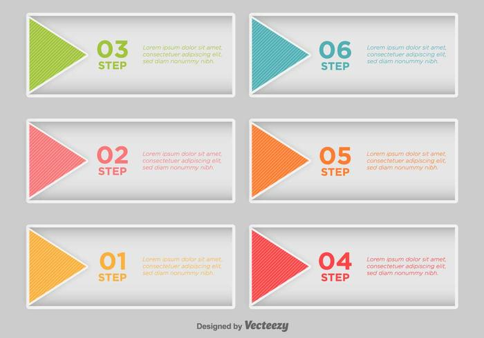 Step By Step Infographic - Vector
