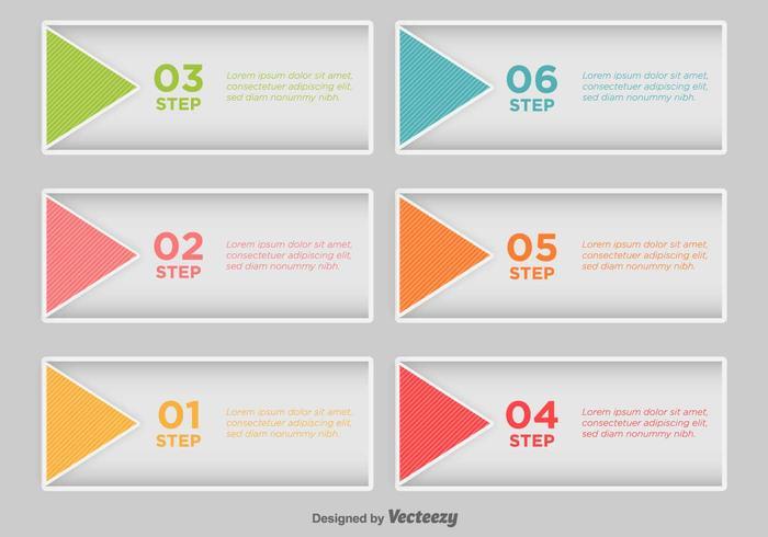 Passo a Passo Infográfico - Vector