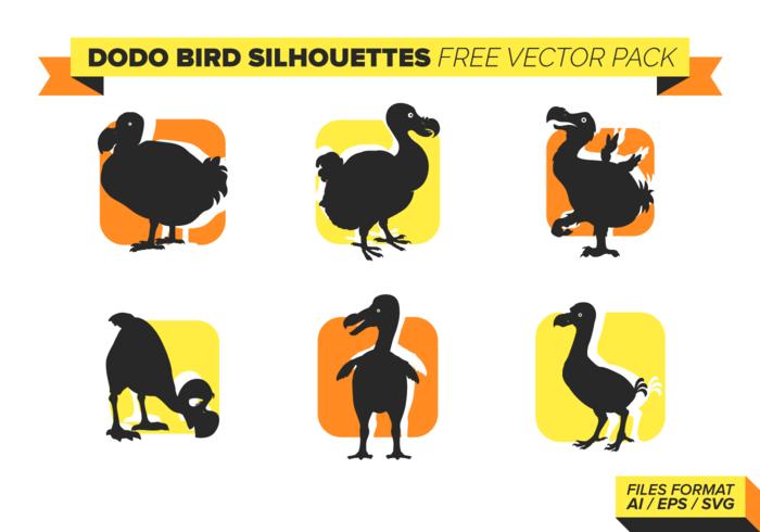 Dodo-Vogel-Silhouetten Free Vector-Pack