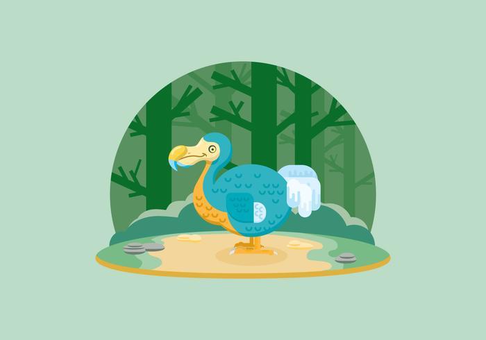 Dodo In The Jungle Illustration vector