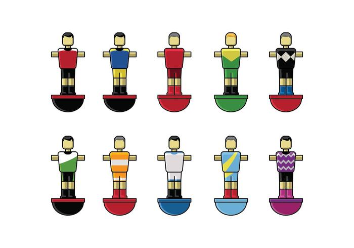 Free Table Football Player Set Vector