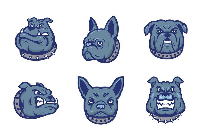 Vettore della mascotte dei bulldog