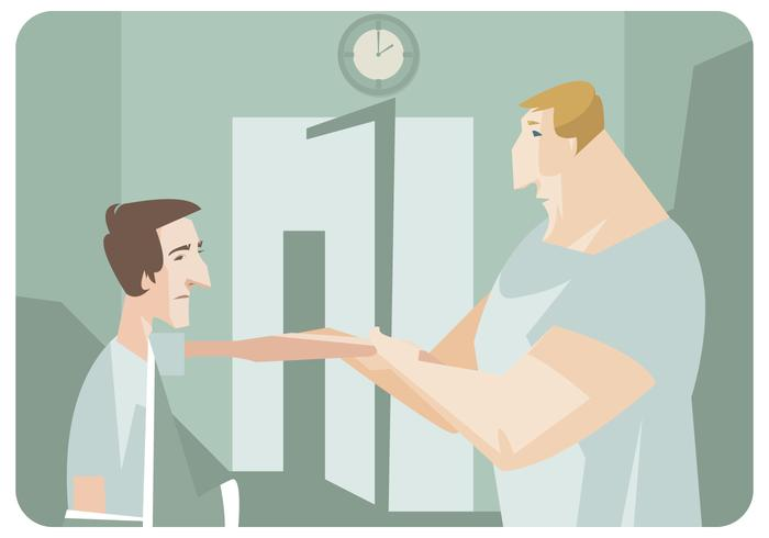 Patient Getting Hand Therapy Vector