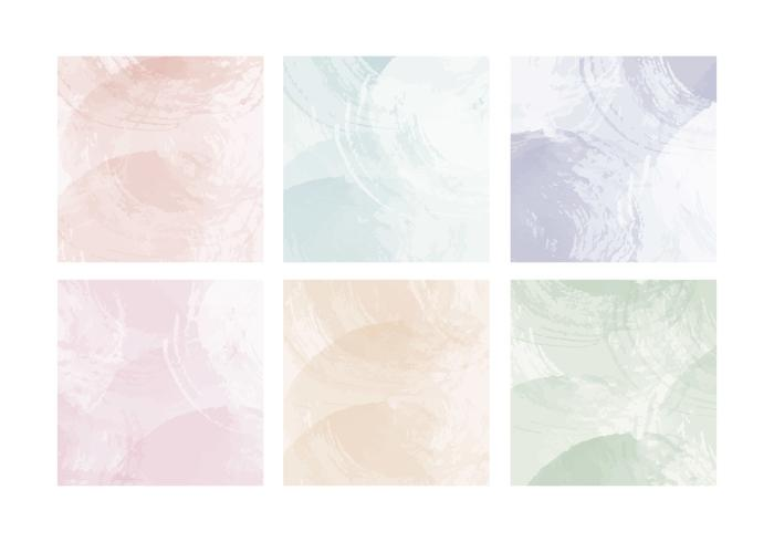 Vector Pastel Watercolor Cards