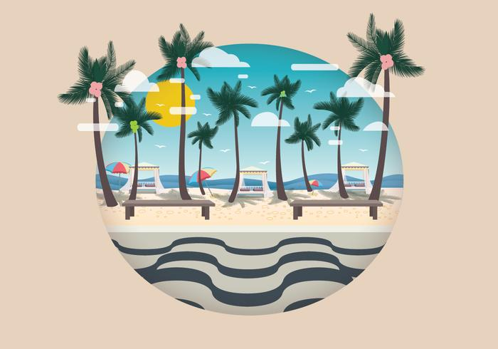 Copacabana med Coconut Tree Vector
