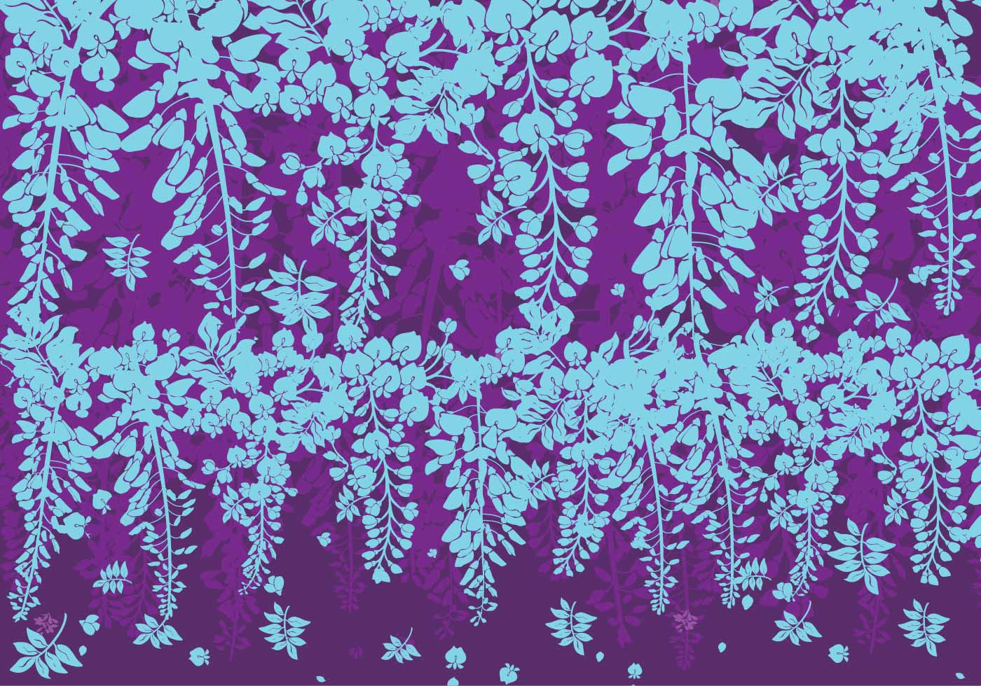 Blue And Purple Wisteria Flowers Vector Download Free Vector Art