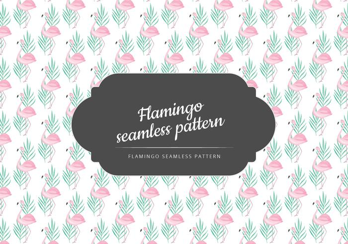 Vector Hand Drawn Flamingo Pattern