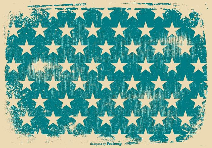 Blue Stars Patriotic Grunge Background