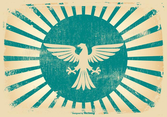 Retro Grunge Eagle Background