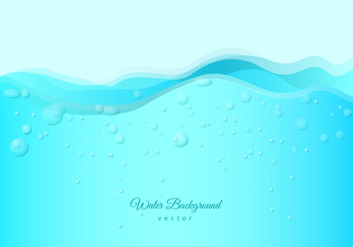 Free Water with Bubbles and Fizz Background