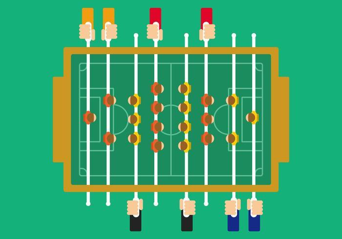 Illustrazione di calcio da tavolo