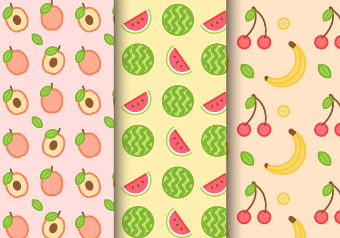 Gratis sommarfruktmönster