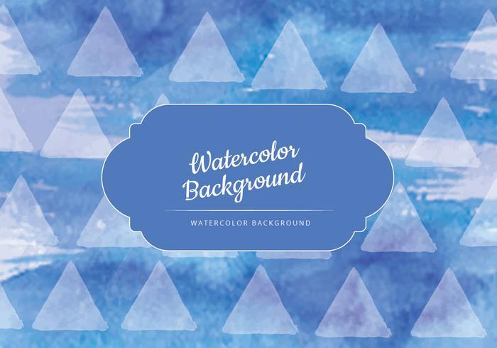 Vector Dark Blue Watercolor Background