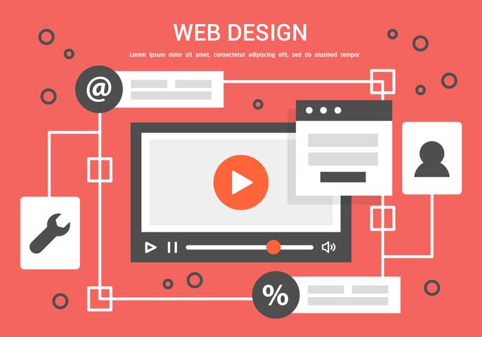 Livre Vector Web Design Ilustração