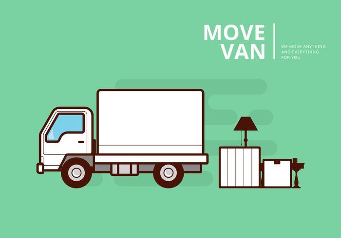 a60bfb99f1d3ce Moving Van or Truck. Transport or Delivery Illustration. - Download ...