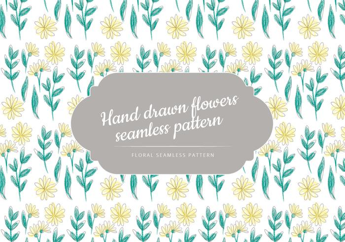 Vector Hand Drawn Seamless Floral Pattern