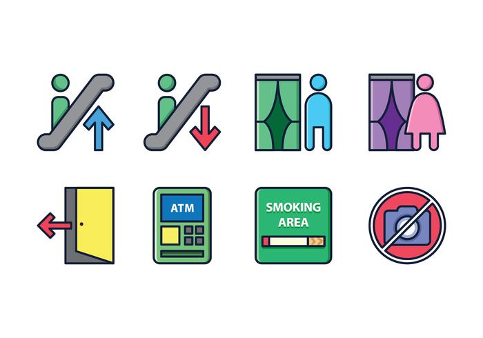 Store Department Sign Icons