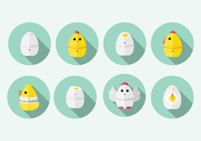Chick Egg Timer Vector