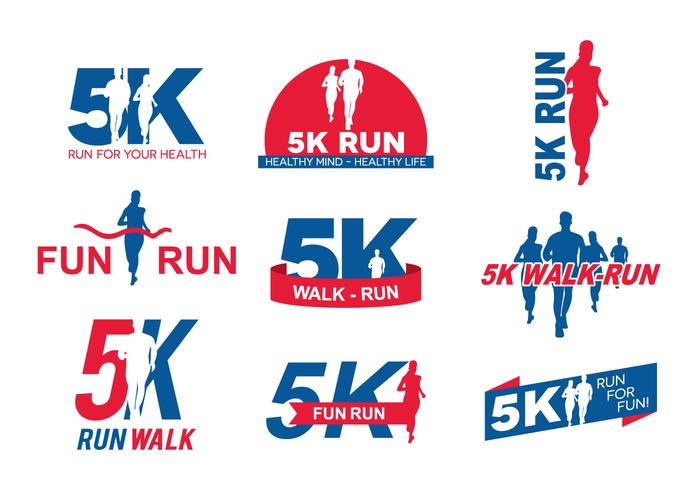 5k running logo
