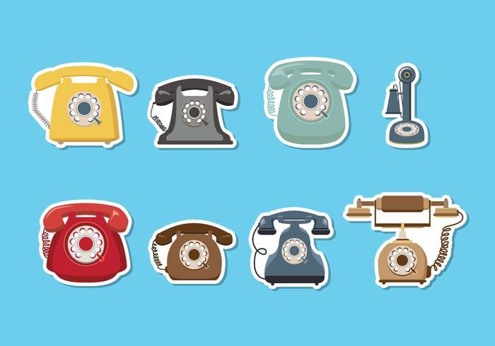 Retro, telefone, vetorial
