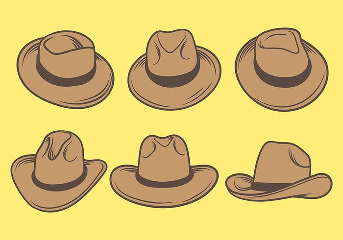 Gaucho Hats Icons Vector