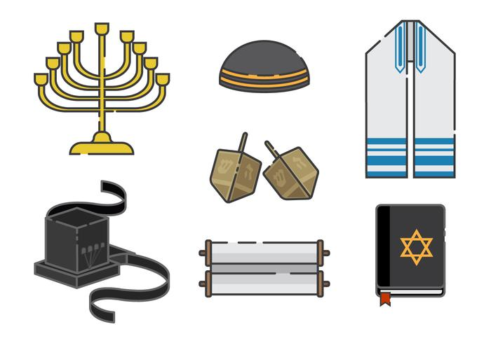 Tefilin e judeus Elements Vector