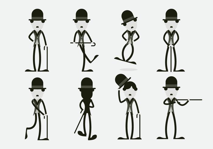 Funny Charlie Chaplin Character Vector