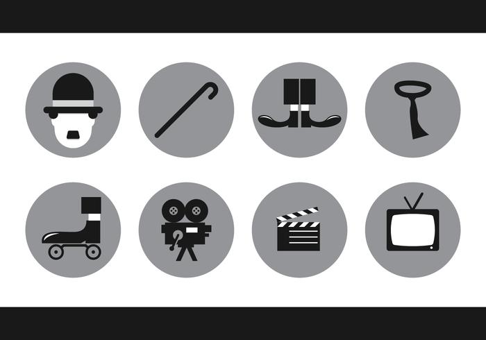 Charlie Chaplin del vector del icono