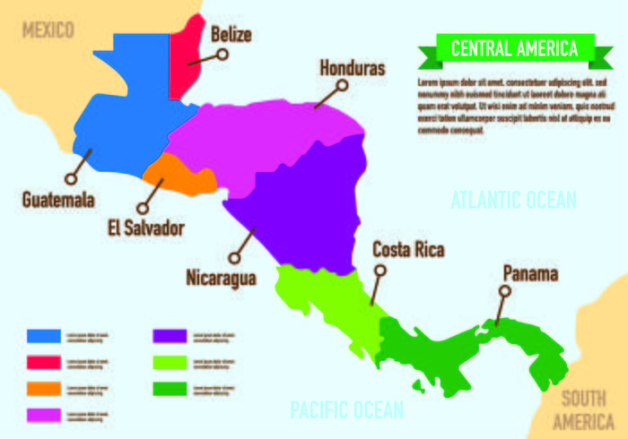 Central America Map Infographic - Download Free Vector Art, Stock ...