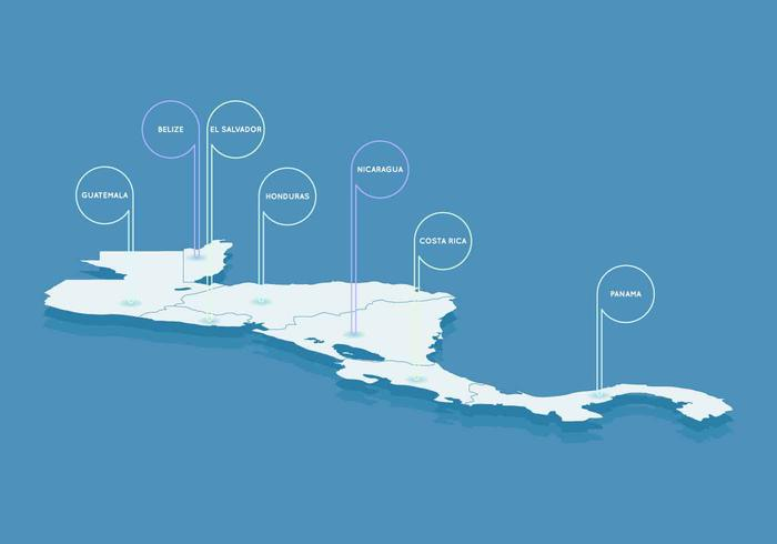 Free Outstanding Central America Map Vectors
