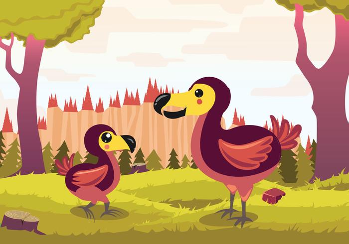 Dodo Cartoon Vector Illustratie