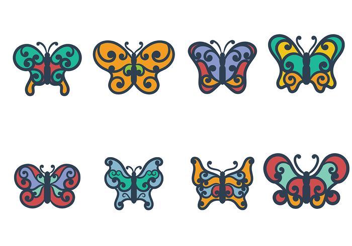 Mariposa Icono Vector