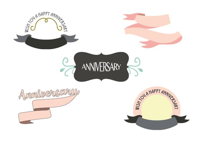 Anniversary Ribbon Vector
