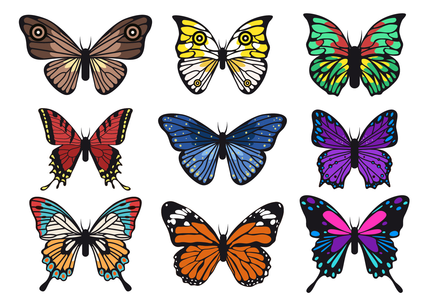 Beautiful Butterfly Vector Collections - Download Free ...
