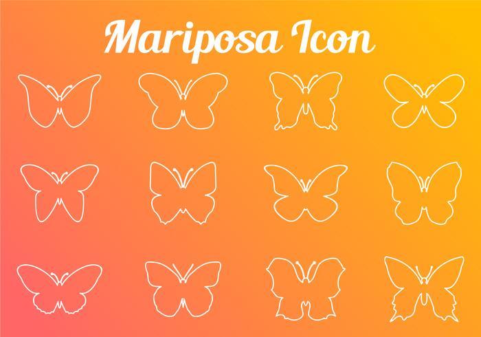 Stroke Linie Schmetterling Icon