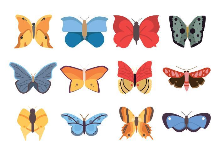 Icona di farfalle vettore