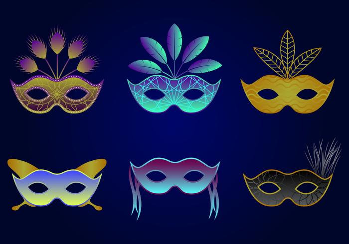 Beautiful Masquerade Ball Vector