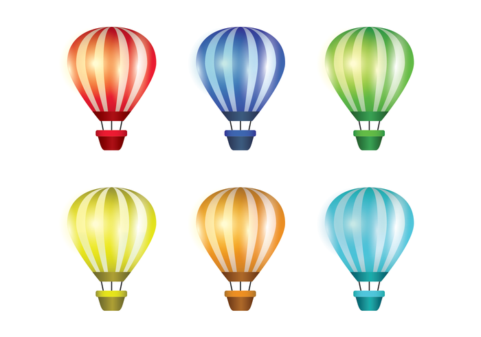 Hot Air Balloon Realistic Vector