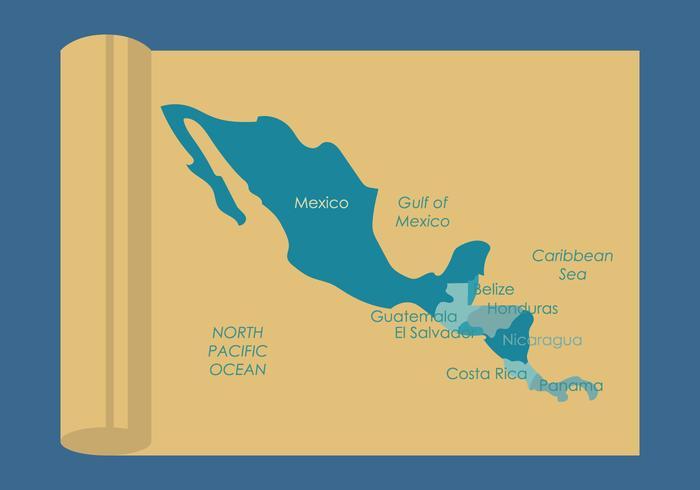 América Central Mapa Vectores