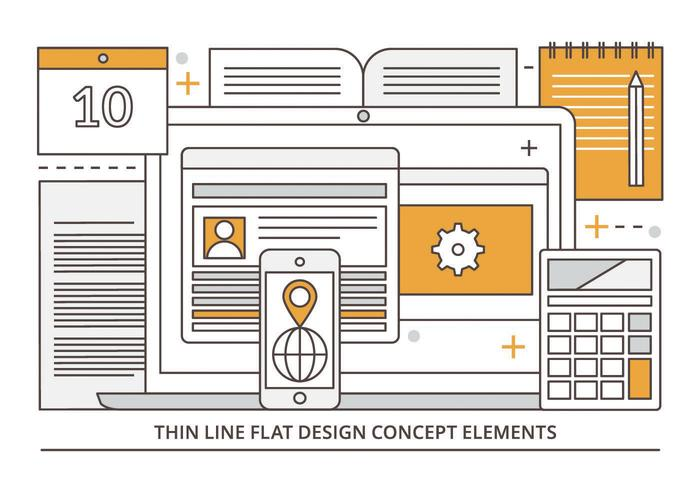 Free Flat Linear Vector Digital Media Illustration