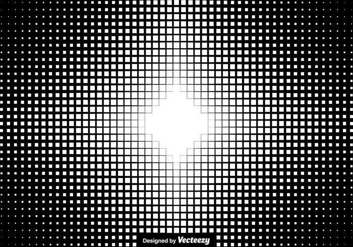 Halftone Squares Background Vector Illustration