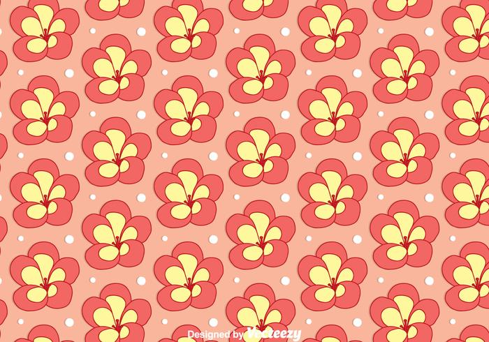 Rhododendron Flower Seamless Pattern Vector