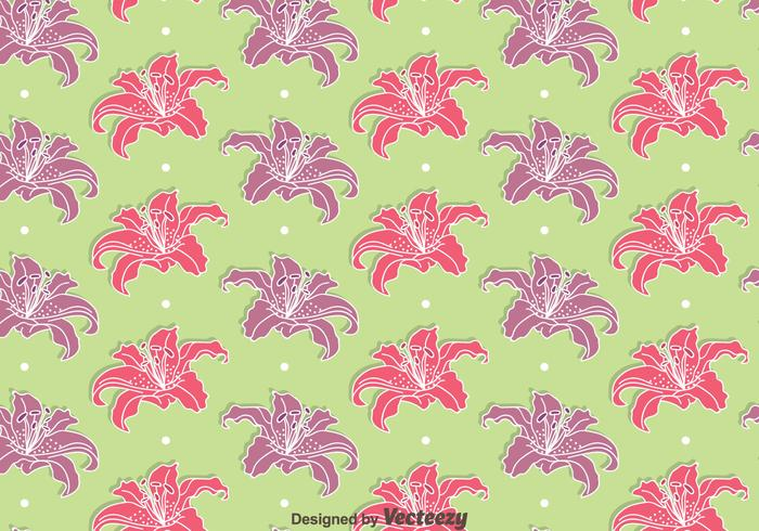 Pink And Purple Rhododendron Flowers Seamless Pattern Vectors