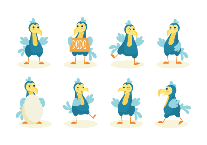 Dodo Cartoon Vector