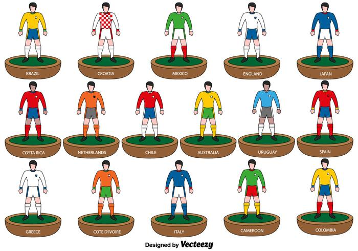 Subbuteo Players icons - Vector
