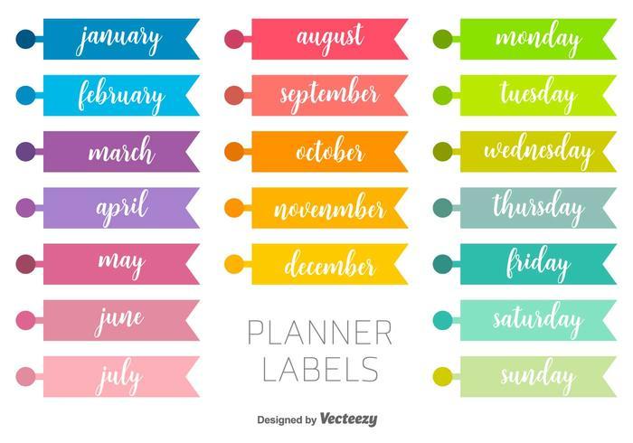Etiquetas Vector Planner Download Vetores Gratis Desenhos De